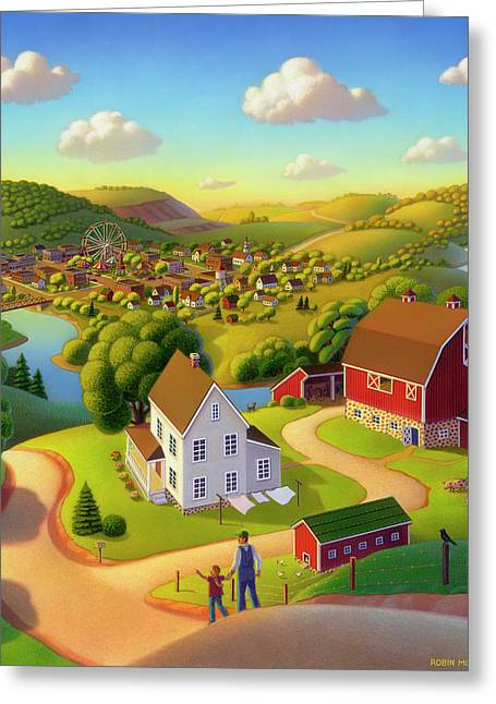 Rolling Hills Greeting Cards - Signs and Wonders Greeting Card by Robin Moline