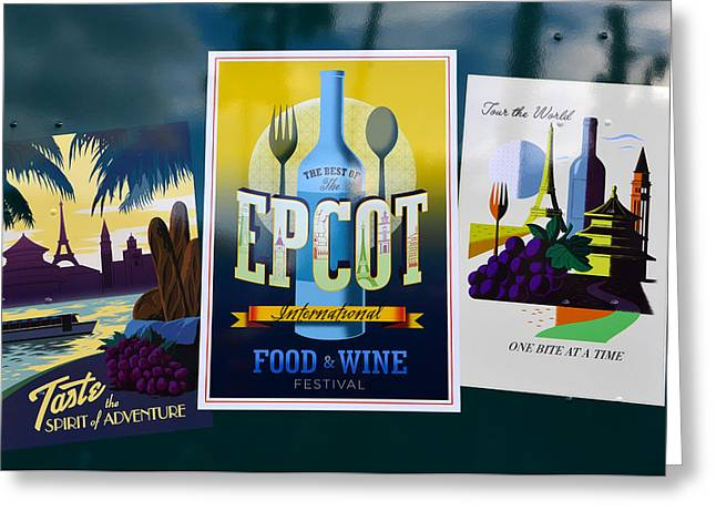 Epcot Greeting Cards - Signs of Epcot Greeting Card by David Lee Thompson