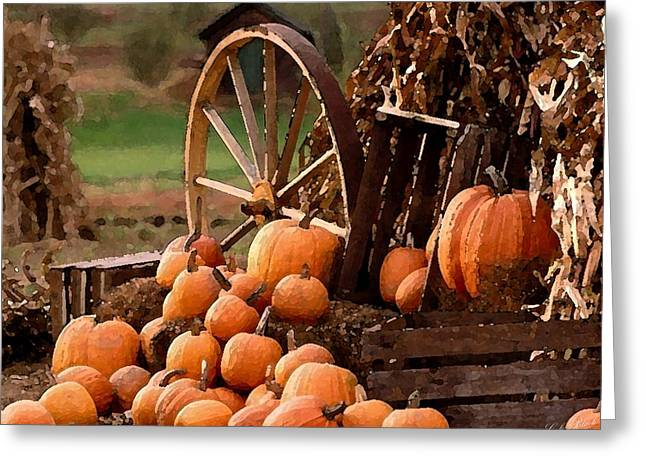 Occasion Drawings Greeting Cards - Signs Of Fall Greeting Card by Cole Black