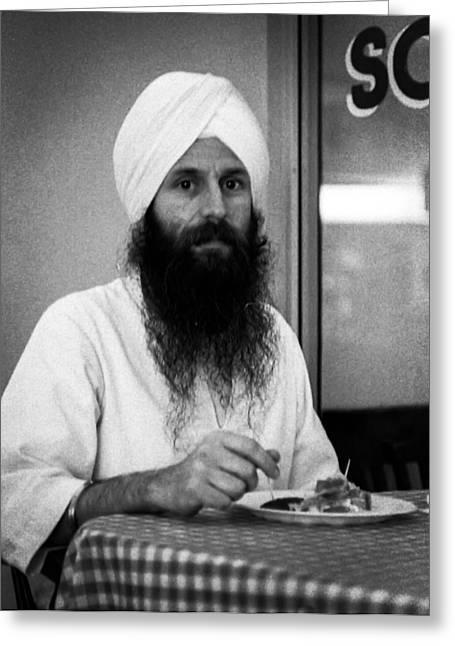Haist Greeting Cards - Sikh and Souvlaki Greeting Card by Paul Haist