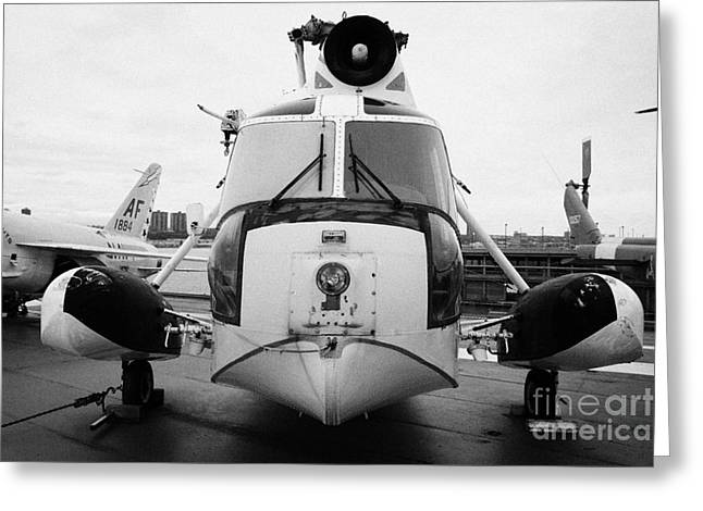 Sikorsky Hh 52 Hh52 Sea Guardian Helicopter On Display Greeting Card by Joe Fox