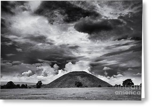 Bronze Age Greeting Cards - Silbury Hill  Greeting Card by Tim Gainey