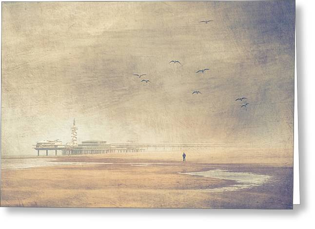 Scheveningen Greeting Cards - Silence In The Sands Greeting Card by Constance Fein Harding