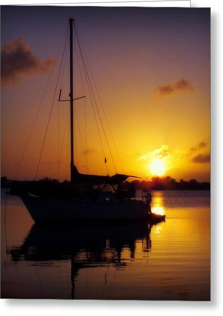 Masts Greeting Cards - SILENCE of NIGHT Greeting Card by Karen Wiles