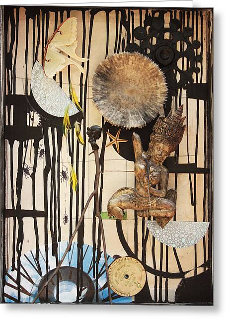 Conscious Mixed Media Greeting Cards - Silence of Screams c2013 Greeting Card by Paul Ashby