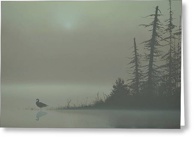 Peter Mathios Greeting Cards - Silence Greeting Card by Peter Mathios