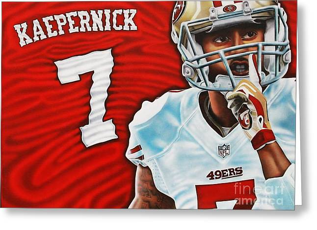 49ers Paintings Greeting Cards - Silence the Haters Greeting Card by Anthony Young