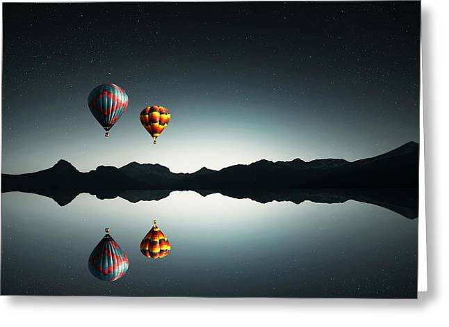 Above Greeting Cards - Silent Greeting Card by Bess Hamiti