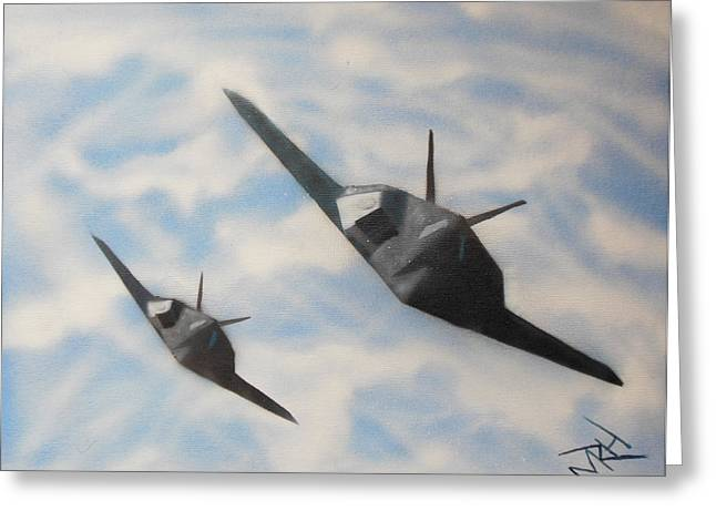 Etc. Paintings Greeting Cards - Silent But Deadly Greeting Card by Michael Hall