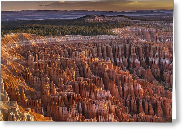 Silent City - Bryce Canyon Greeting Card by Eduard Moldoveanu