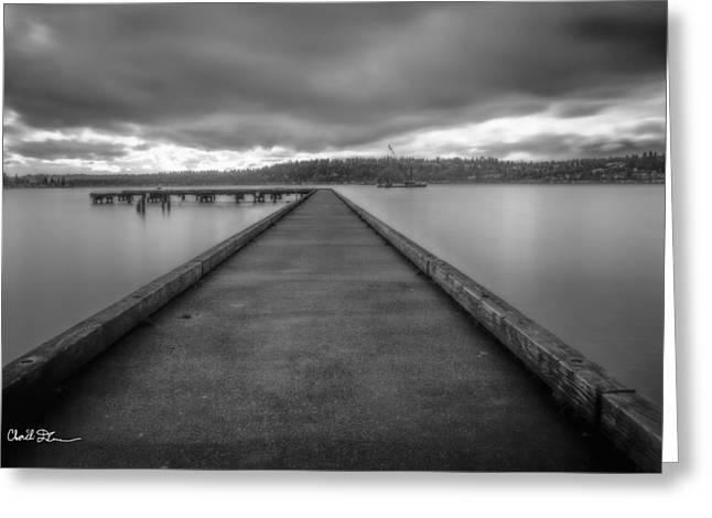 Gilman Greeting Cards - Silent Dock Greeting Card by Charlie Duncan