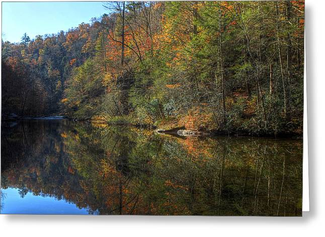 Tennessee River Greeting Cards - Silent Fall Greeting Card by Gregory Cook