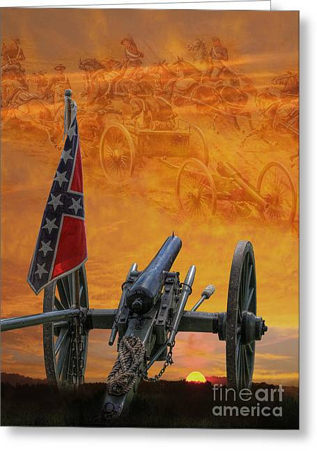 Cemetery Ridge Greeting Cards - Silent Fields of Gettysburg Greeting Card by Randy Steele