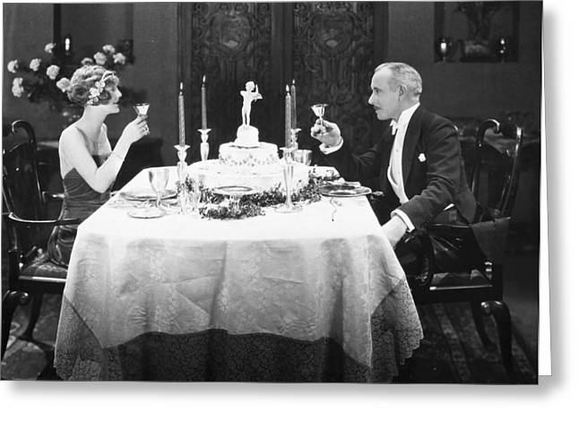 Silent Film: Toasting Greeting Card by Granger