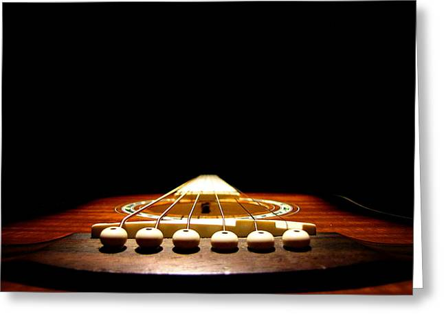 Greg Simmons Greeting Cards - Silent Guitar Greeting Card by Greg Simmons