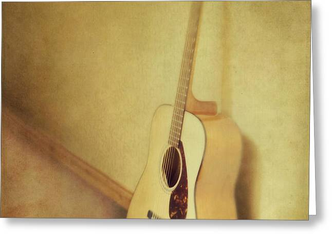 silent guitar Greeting Card by Priska Wettstein