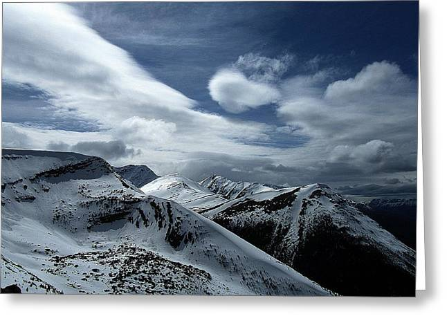 Mountains Greeting Cards - Silent Majesty Greeting Card by Shirley Sirois