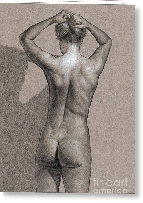 Figure Drawing Greeting Cards - Silent Movement Greeting Card by Dirk Dzimirsky