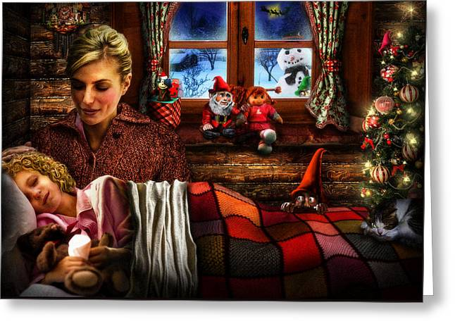 Surprise Greeting Cards - Silent Night Greeting Card by Alessandro Della Pietra