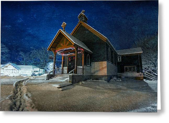 St John Greeting Cards - Silent Night Greeting Card by Everet Regal