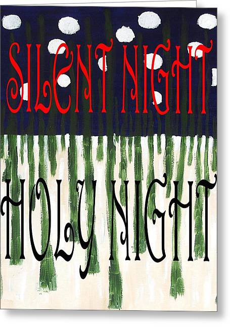 Cute Mixed Media Greeting Cards - Silent Night Holy Night Greeting Card by Patrick J Murphy
