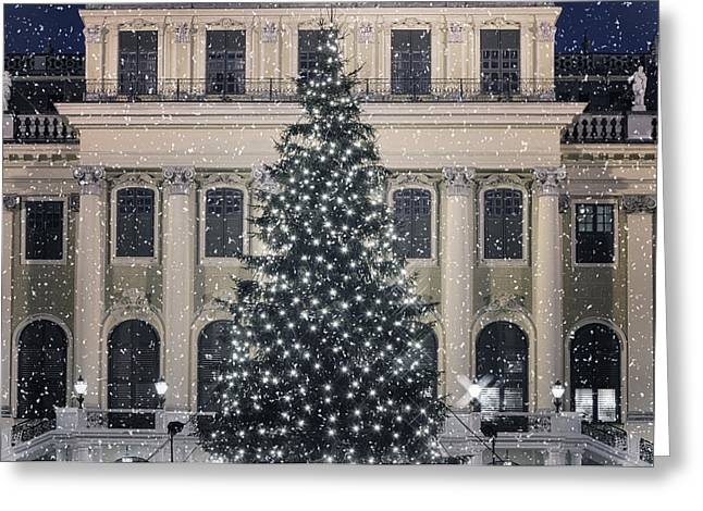 Winter Night Greeting Cards - Silent Night Greeting Card by Joan Carroll
