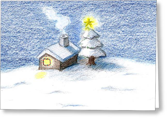 Silent Night Greeting Card by Keiko Katsuta