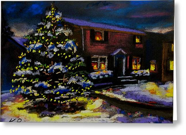 Night Scenes Pastels Greeting Cards - Silent Night Greeting Card by Kevin Brown