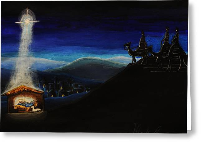 Illuminate Drawings Greeting Cards - Silent Night Greeting Card by Mark Lopez