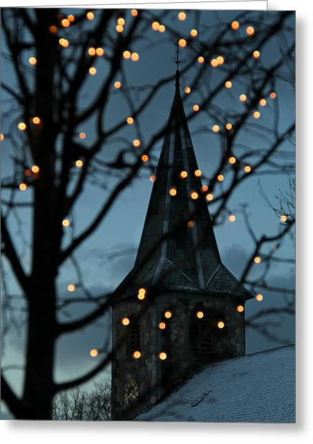 Silent Night Greeting Card by Odd Jeppesen