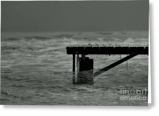 Reflections Of Sun In Water Greeting Cards - Peaceful Pier Greeting Card by Erhan OZBIYIK