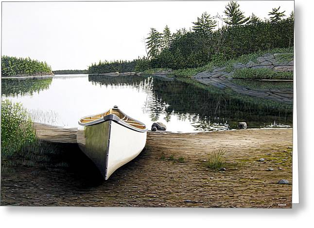 Silent Retreat Greeting Card by Kenneth M  Kirsch