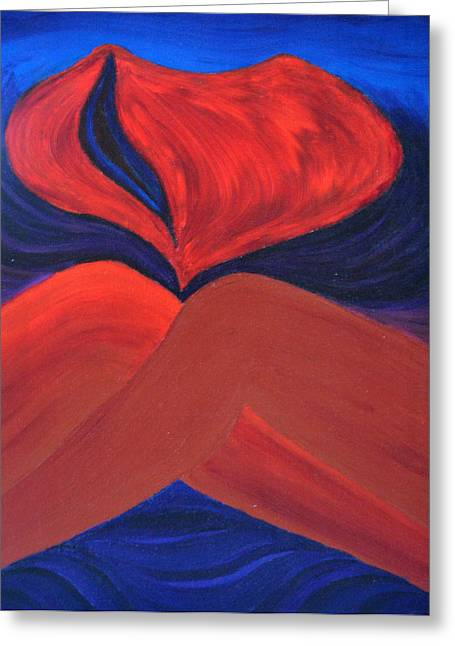 Tears Greeting Cards - Silent She Emerges Greeting Card by Daina White