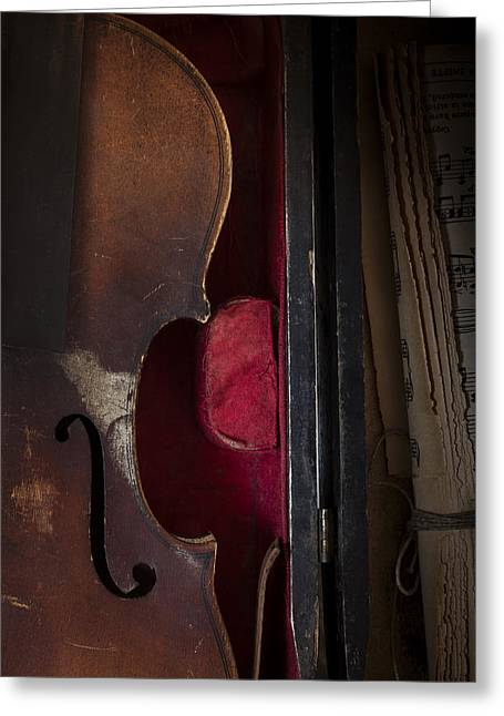 Tattered Greeting Cards - Silent Sonata Greeting Card by Amy Weiss