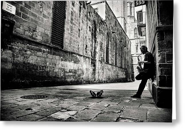 Lonely Greeting Card featuring the photograph Silent Street by Gertjan Van Geerenstein