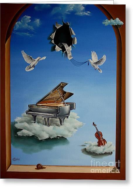 Silent Symphony Greeting Card by Svetoslav Stoyanov