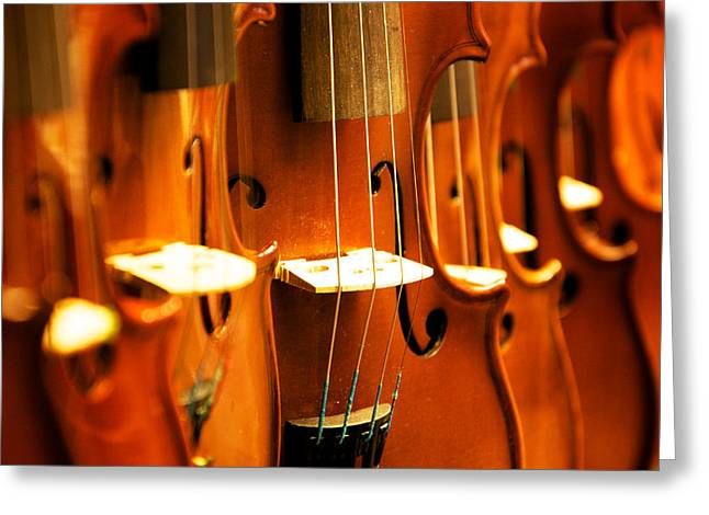 Musica Greeting Cards - Silent violins Greeting Card by Maurizio Incurvati