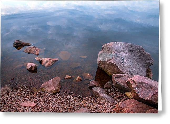 Russian Nature Greeting Cards - Silent Waters. Ladoga Lake Greeting Card by Jenny Rainbow