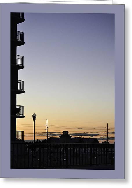 Para Surfing Greeting Cards - Silhouette in the SunSet Greeting Card by Debra Bowers