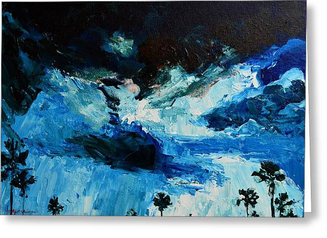 Summer Storm Paintings Greeting Cards - Silhouette of Nature II Greeting Card by Patricia Awapara