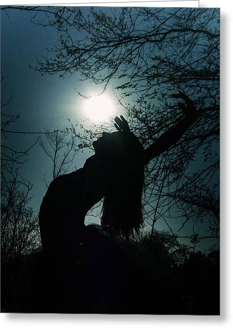 Ballet Dancers Photographs Greeting Cards - Silhouette Greeting Card by Ryan Crane