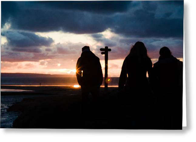 Croyde Greeting Cards - Silhouette Sunset Greeting Card by Ed Vyse