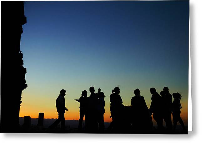 Mexico City Greeting Cards - Silhouettes at Sunset Greeting Card by Jess Kraft