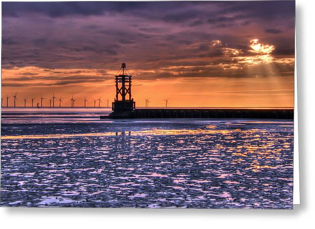 Crosby Greeting Cards - Silhouettes in the sunset Greeting Card by Paul Madden