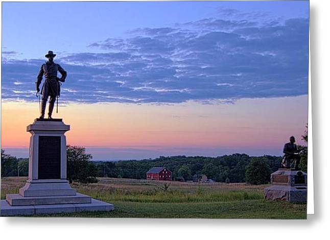 Confederate Monument Greeting Cards - Silhouettes Greeting Card by Mike Griffiths