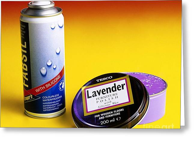Spray Can Greeting Cards - Silicone-based Products Greeting Card by Martyn F. Chillmaid