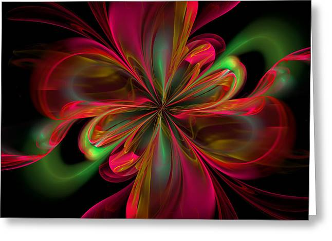 Algorithm Greeting Cards - Silk Butterfly Abstract Greeting Card by Georgiana Romanovna