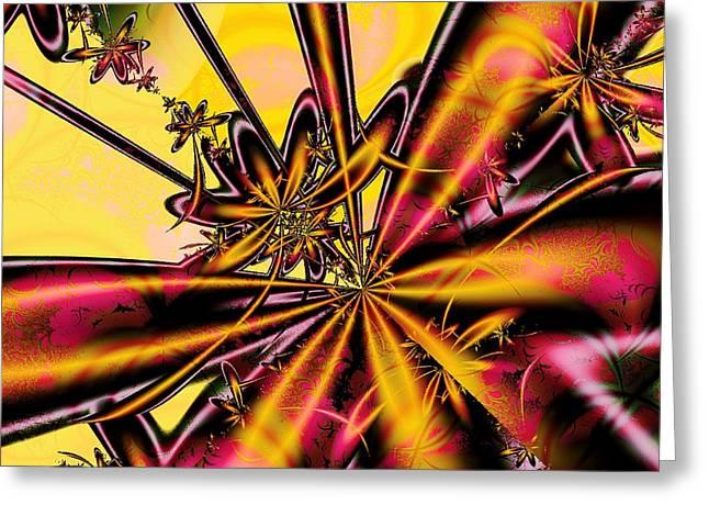 Cloth Mixed Media Greeting Cards - Silk Flower Greeting Card by Anastasiya Malakhova