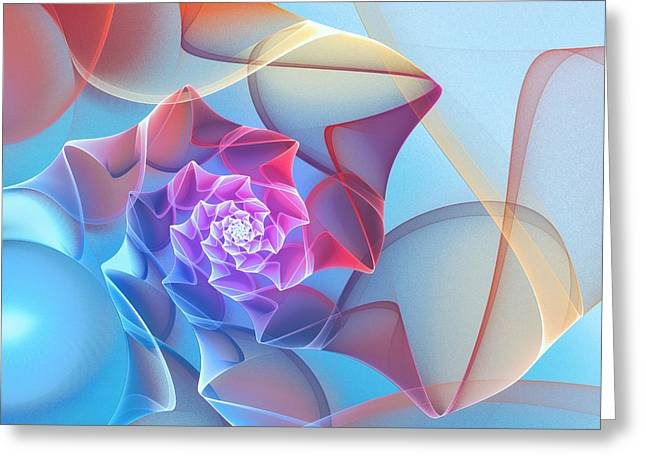 Repetition Greeting Cards - Silk Flower Greeting Card by Jutta Maria Pusl