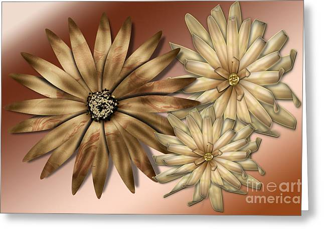 Digital Installation Art Greeting Cards - Silk Flowers Greeting Card by Tina M Wenger